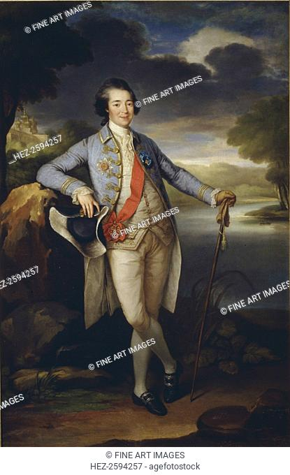 Portrait of Prince Alexander Kurakin (1752-1818), c. 1780. Found in the collection of the State Tretyakov Gallery, Moscow