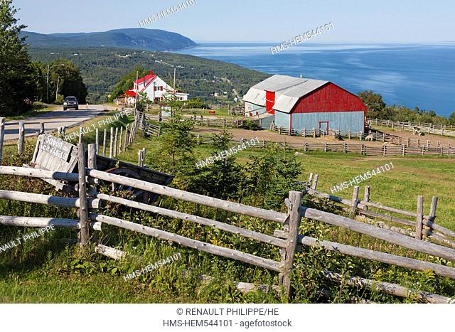 Canada, Quebec province, Charlevoix region, St Lawrence river raod, Port au Persil member of the association of the most beautiful villages of Quebec farm house...