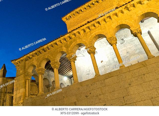 Church of San Martín, 12th Century Romanesque Style, Spanish Property of Cultural Interest, Segovia, UNESCO World Heritage Site, Castilla y León, Spain, Europe