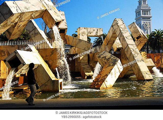 The Vaillancourt Fountain in San Francisco is considered controversial due to its design and use of water