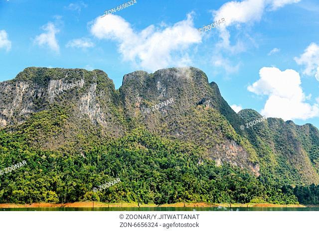 Lush high limestone mountains