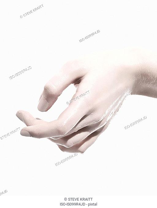 Woman's wet hand, close up