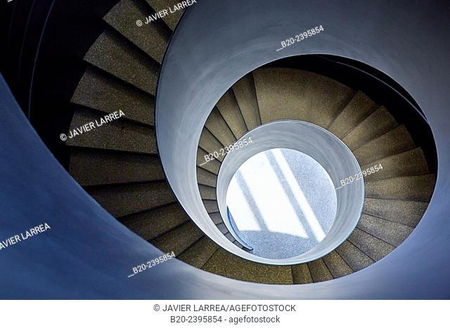 Spiral staircase. Mondragon University. Orona Ideo Building. Galarreta. Hernani. San Sebastian Technology Park. Donostia San Sebastian. Gipuzkoa