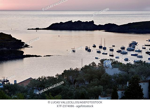 Bay of Portlligat. At right Salvador Dali's House - Museum.Costa Brava. Girona province. Catalonia. Spain