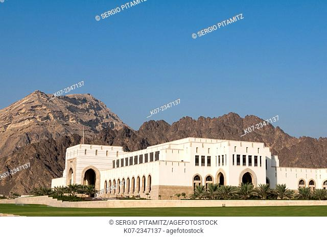 Parliament building in Al Bustan district, Muscat, Oman