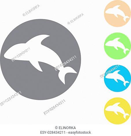 Dolphin icon. Vector illustrations