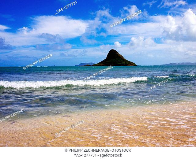 The island of Mokolii, Oahu, Hawaii