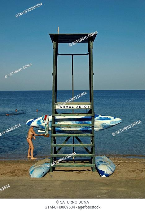 Lifeguard tower, Greece