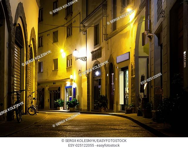 Street of Florence in the Evening, Italy