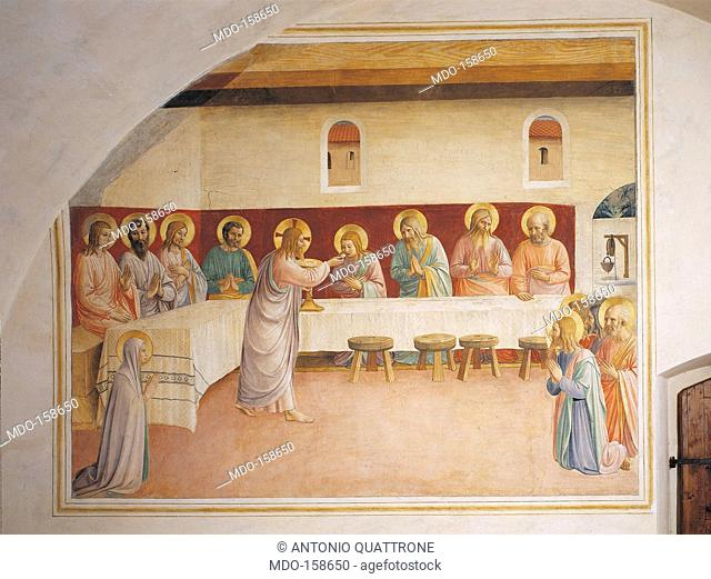 The Institution of the Eucharist (The Last Supper), by Guido di Pietro (Piero) known as Beato Angelico, 1438 - 1446 about, 15th Century, fresco