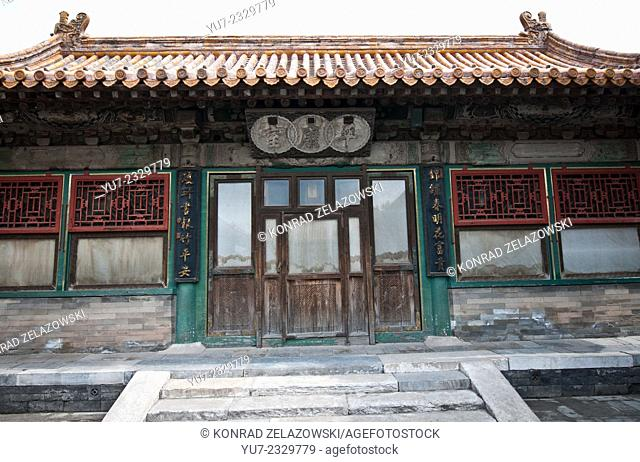 Wooden hall next to Ti He Dian (Palace of Manifest Harmony) in Forbidden City, Beijing, China