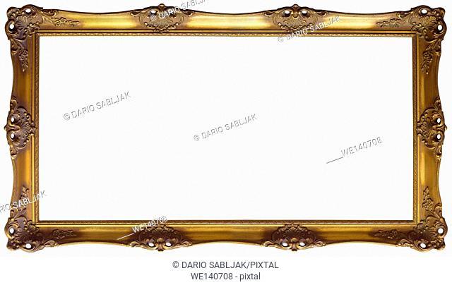 Ornate Golden Baroque Picture Frame