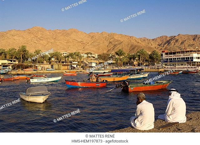 Jordan, Al Aqaba Governorate, Al Aqaba City, little fishing harbour
