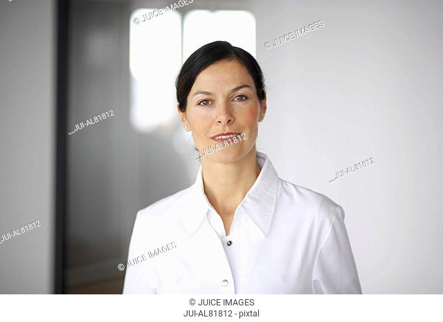 Close up of woman smiling indoors