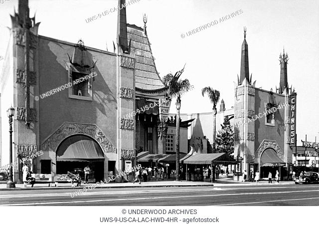 Hollywood, California: c.1944.Grauman's Chinese Theater on Hollywood Blvd. in Los Angeles