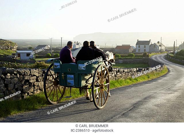 Horse carriage; Inishmore, Aran Islands, County Galway, Ireland