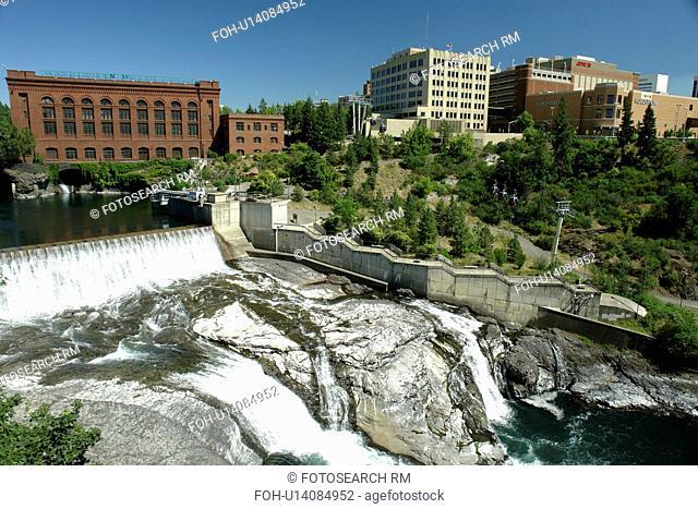 Spokane, WA, Washington, Spokane Falls, Spokane River, riverfront, downtown