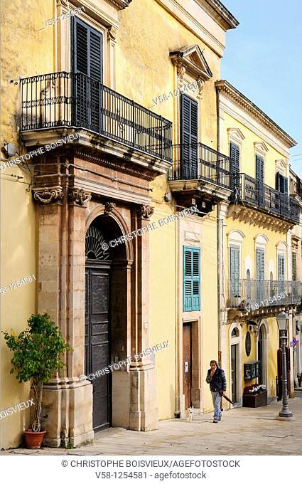 Italy, Sicily, World Heritage Site, Ragusa, Old Town Ragusa Ibla, Corso XXV Aprile