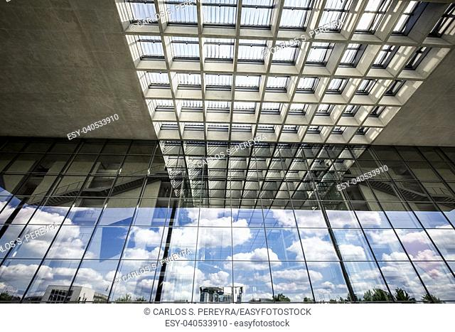 Abstract architecture detail in Berlin Germany