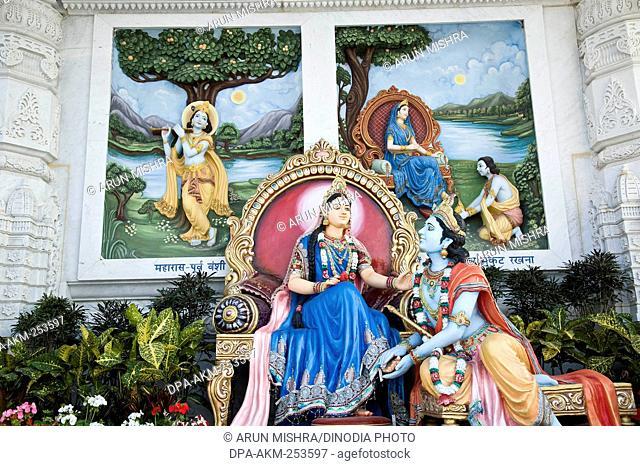 Radha krishna statue in prem temple, uttar pradesh, india, asia
