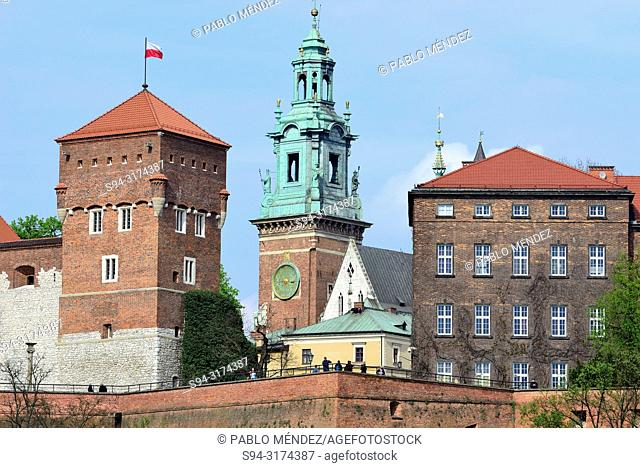Wawel: View of the cathedral, Krakow, Poland