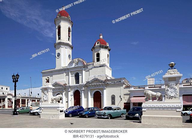 Catedral de la Purisima Concepcion at Parque Jose Marti, cathedral, historic city centre, Cienfuegos, Cienfuegos Province, Cuba