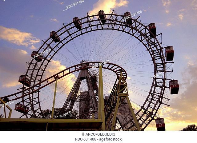 Ferris wheel in the Prater, Vienna, Austria
