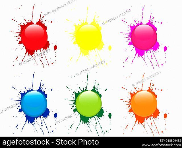 colorful button