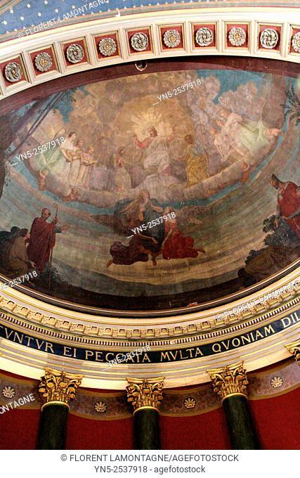 Dome of Church of La Madeleine in Albi, Tarn, France