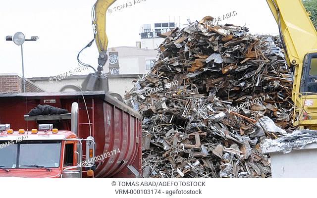 Scrap Metal Junk Yard, Brooklyn, New York City