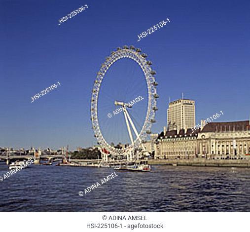 travel, United Kingdom, UK, U.K., Great Britain, British Isles, capital, city, building, buildings, structure, wheel, attraction, tourism, landmark, ride