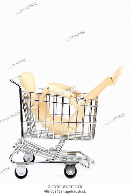 jointed doll in shopping trolley. - 19/01/2008