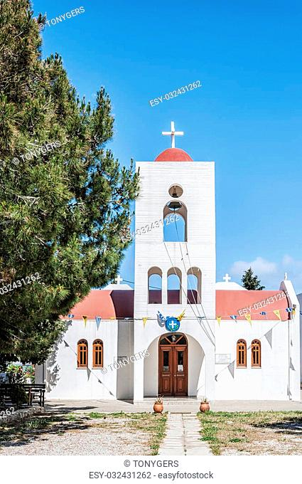One of the Greek Orthodox churches in the town of Makrigialos on Crete