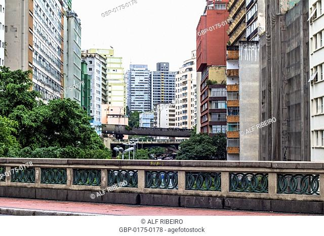Buildings, Nove Avenue Viaduct Major Quedinho, 02.01.2016, Capital, Center, São Paulo, Brazil