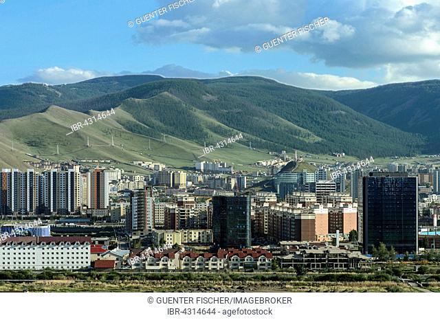 Newly built residential area, Ulan Bator, Mongolia