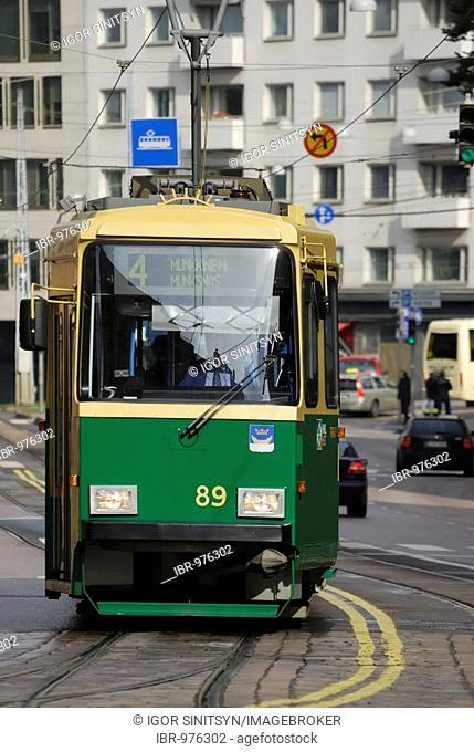 Tramway, Helsinki, Finland, Europe