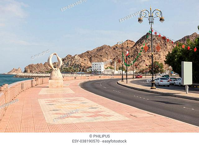Corniche in the old town of Muttrah, Sultanate of Oman, Middle East