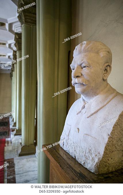 Georgia, Gori, Stalin Museum dedicated to former Soviet dictator Joseph Stalin, bust of Stalin, NR