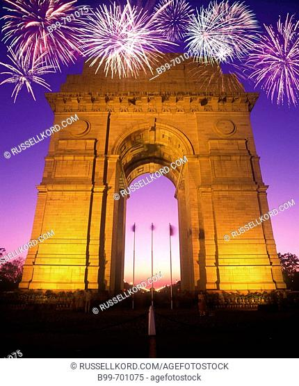 India Gate Arch, Rajpath, New Delhi, Uttar Pradesh, India