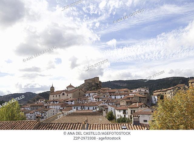 Linares de Mora village in Teruel, Aragon, Spain