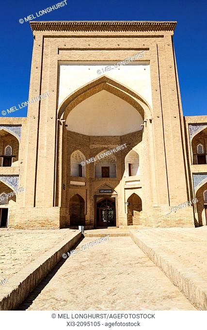 Qutlugh Murad Inaq Madrasah, also known as Kutlug Murad Inak Madrasah, Ichan Kala, Khiva, Uzbekistan