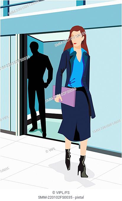 Front view of a businesswoman