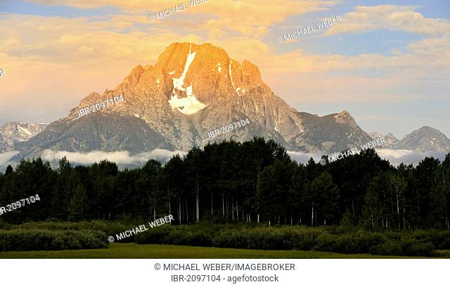 Mount Moran, Grand Teton National Park, Wyoming, United States of America, USA