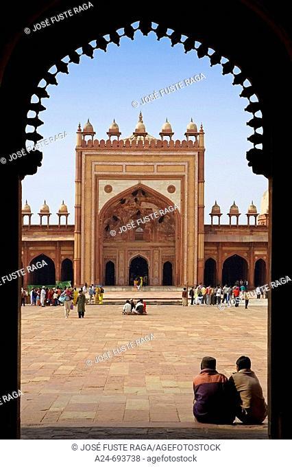Jama Masjid Mosque, Atehpur City. Fatehpur Sikri. Uttar Pradesh. India