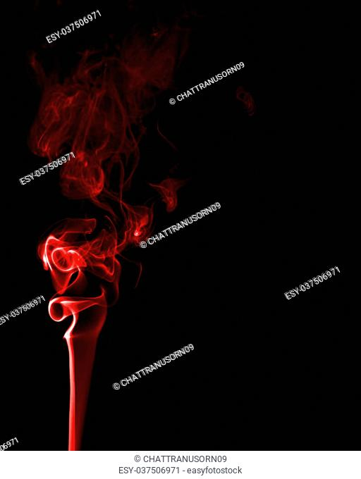 Abstract red smoke isolate on black background