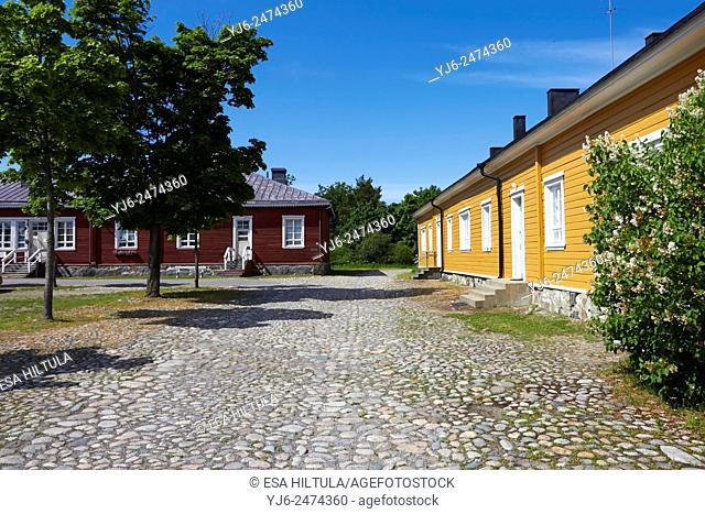 Old buildings at the Fortress of Lappeenranta