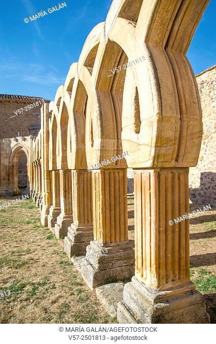 Arches of the cloister. San Juan de Duero monastery, Soria, Spain