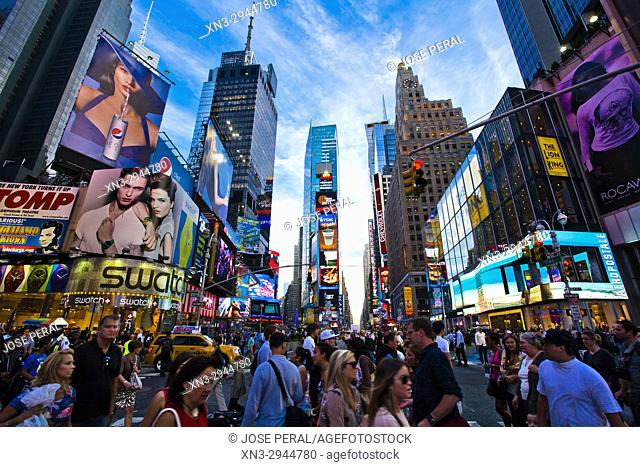 Times Square, Midtown, Manhattan, New York, New York City, United States, USA