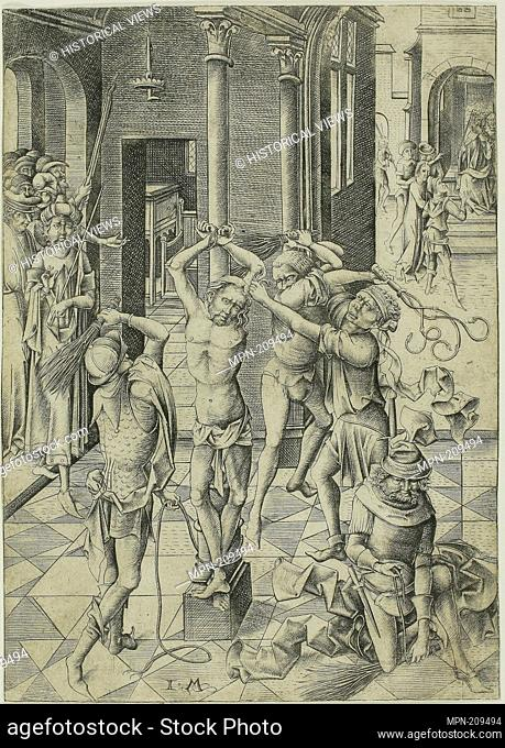 The Flagellation - 1475/85 - Israhel van Meckenem German, c. 1440/45-1503 - Artist: Israhel van Meckenem, Origin: Germany, Date: 1465–1503
