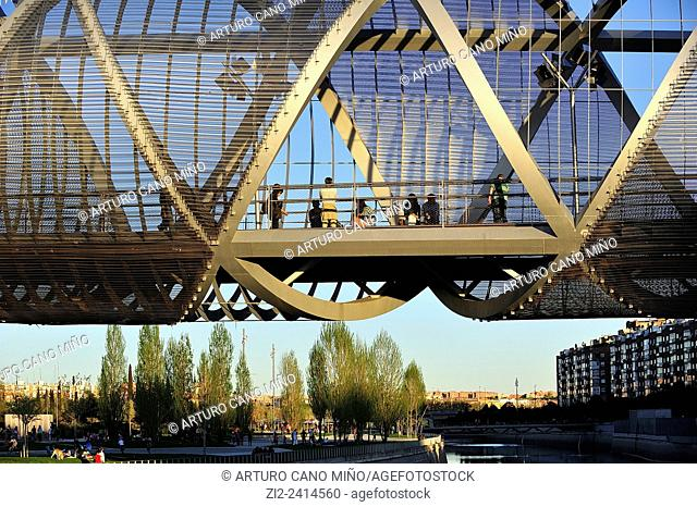 Bridge of Perrault or the Arganzuela, over the River Manzanares. Madrid, Spain
